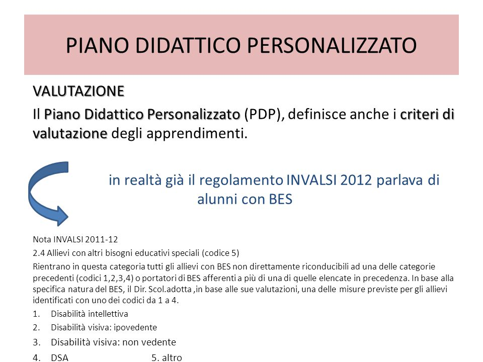 PIANO DIDATTICO PERSONALIZZATO VALUTAZIONE Piano Didattico Personalizzatocriteri di valutazione Il Piano Didattico Personalizzato (PDP), definisce anche i criteri di valutazione degli apprendimenti.
