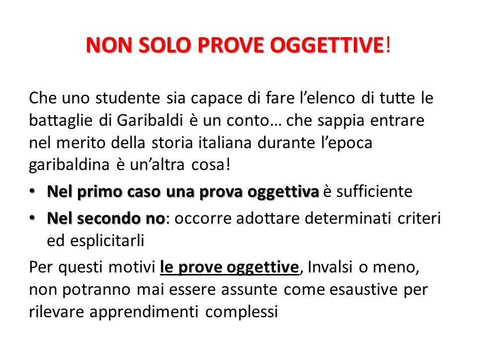 NON SOLO PROVE OGGETTIVE NON SOLO PROVE OGGETTIVE.