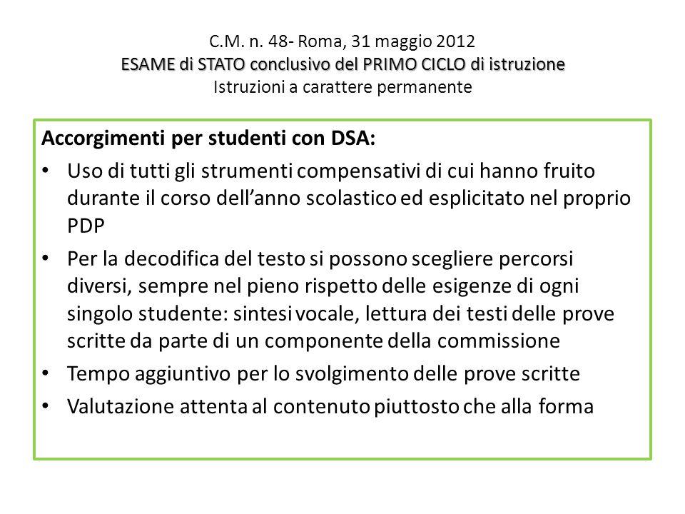 ESAME di STATO conclusivo del PRIMO CICLO di istruzione C.M.