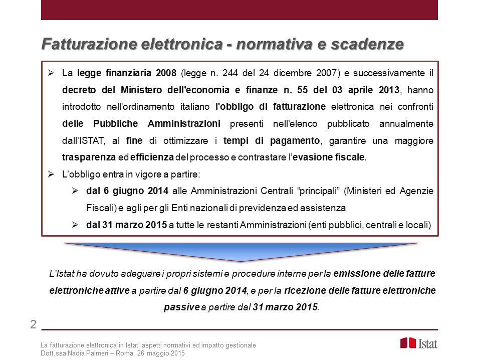 2 Fatturazione elettronica - normativa e scadenze  La legge finanziaria 2008 (legge n.