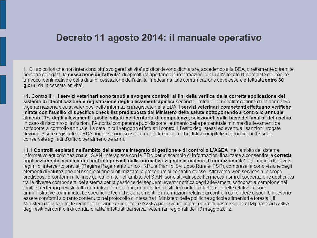 Decreto 11 agosto 2014: il manuale operativo 1.