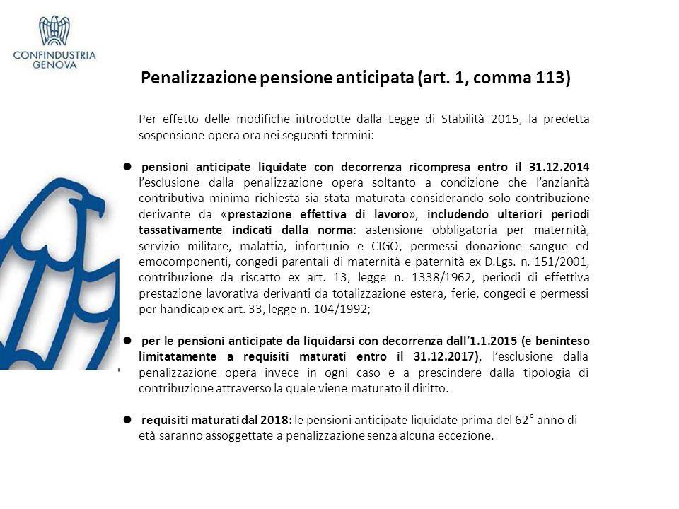Penalizzazione pensione anticipata (art.