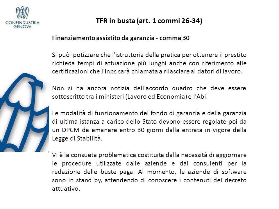 TFR in busta (art.