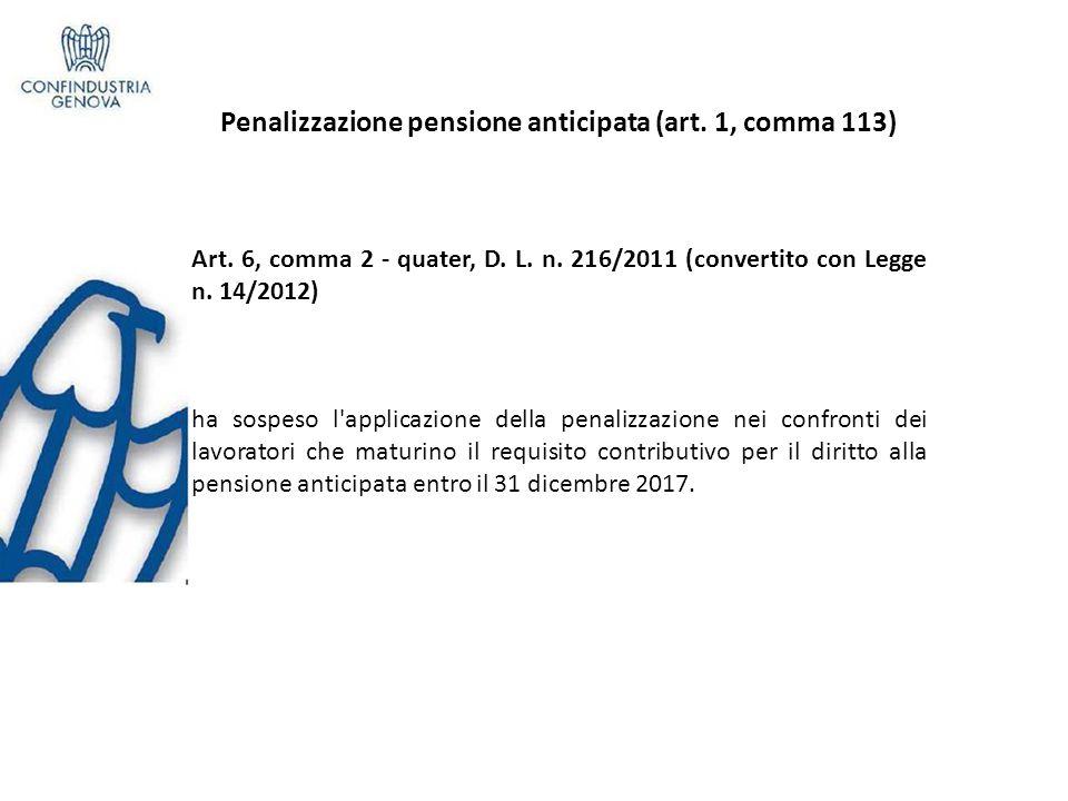 Benefici pensionistici esposizione amianto (art.1, c 112) A rt.