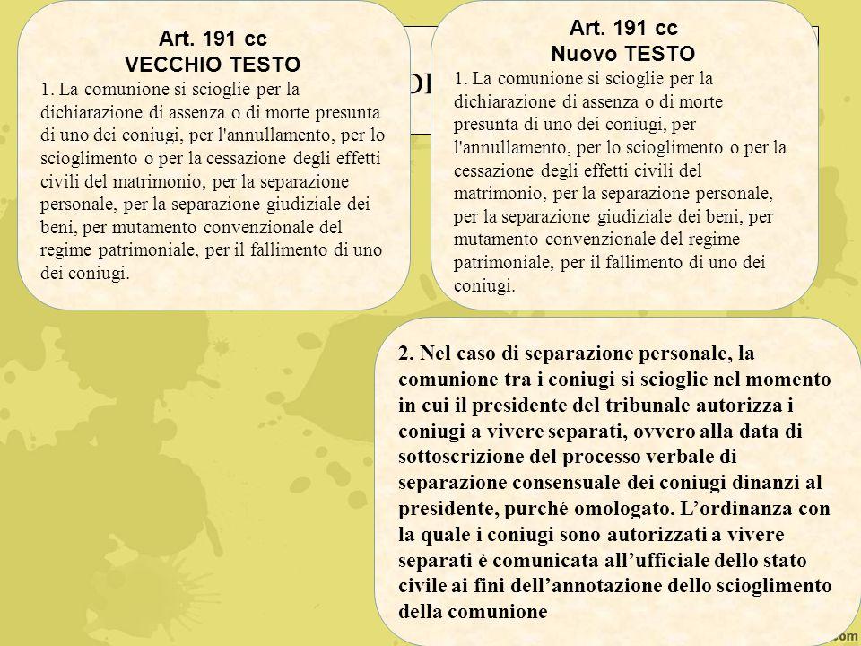 DUBBI INTERPRETATIVI IN CASO DI TRASFORMAZIONE DEL RITO Nella separazione giudiziale, i coniugi compaiono dinanzi al Presidente f.f.