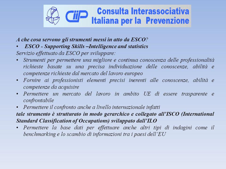 A che cosa servono gli strumenti messi in atto da ESCO.
