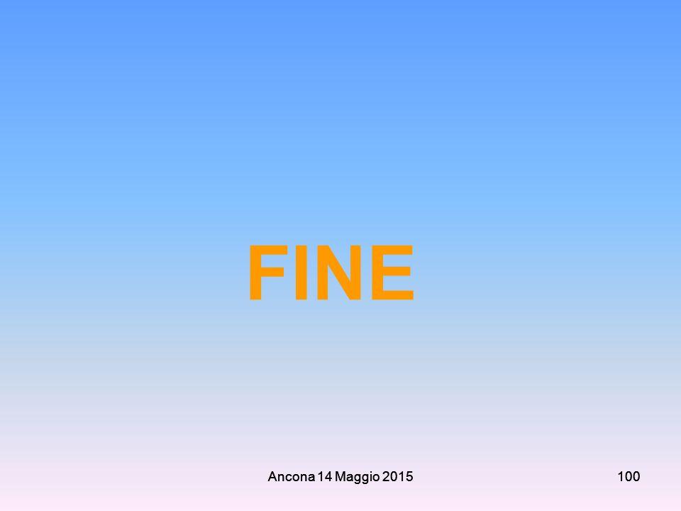 Ancona 14 Maggio 2015100 FINE Ancona 14 Maggio 2015100