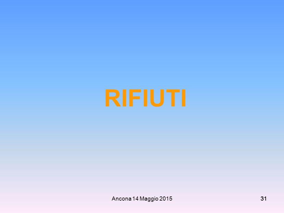 Ancona 14 Maggio 201531 RIFIUTI
