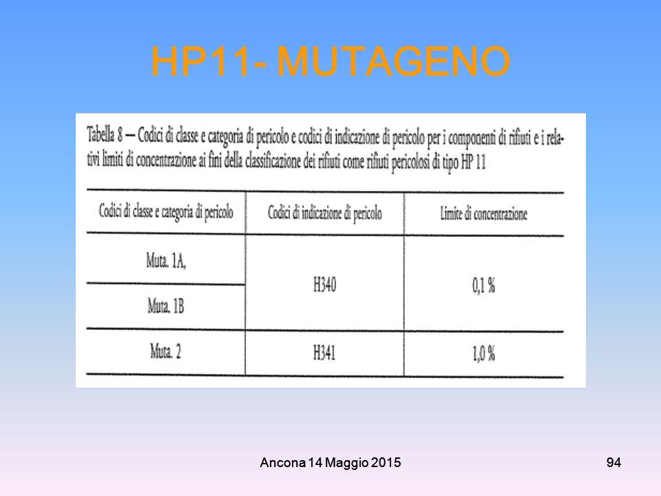 Ancona 14 Maggio 201594 HP11- MUTAGENO Ancona 14 Maggio 201594
