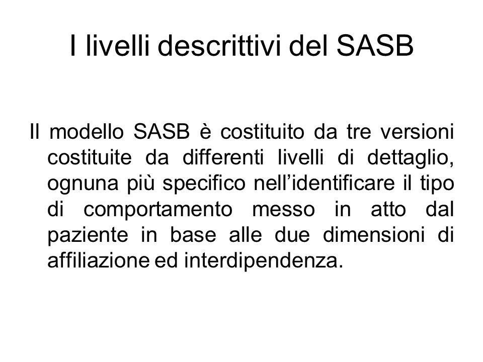I livelli descrittivi del SASB Il modello SASB è costituito da tre versioni costituite da differenti livelli di dettaglio, ognuna più specifico nell'i