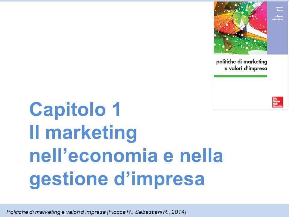Capitolo 1 Il marketing nell'economia e nella gestione d'impresa Politiche di marketing e valori d'impresa [Fiocca R., Sebastiani R., 2014]