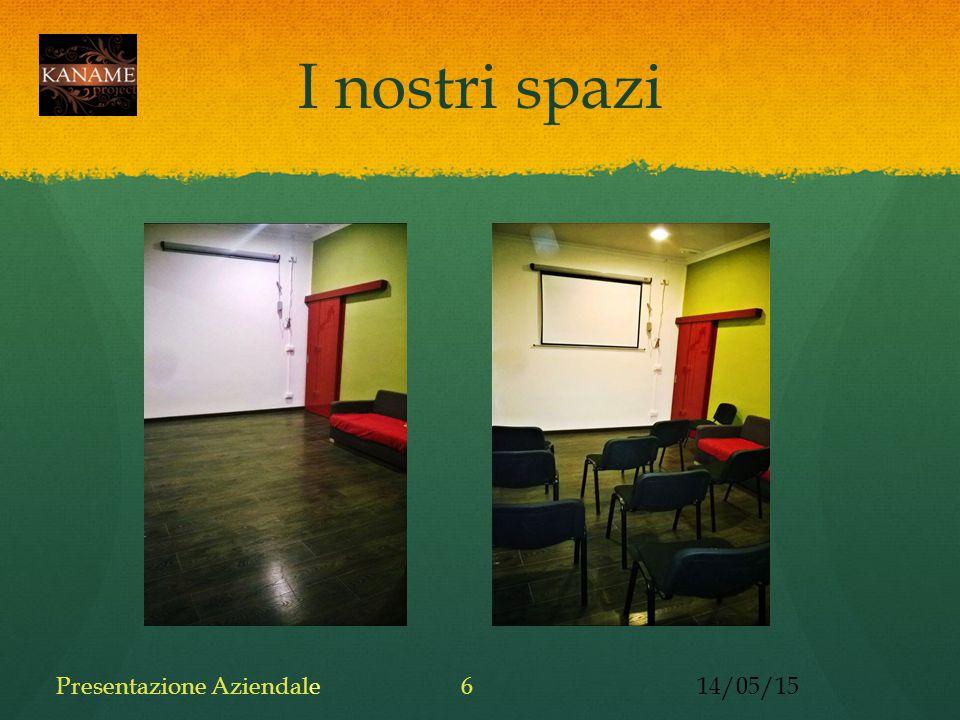 I nostri spazi 14/05/15Presentazione Aziendale6