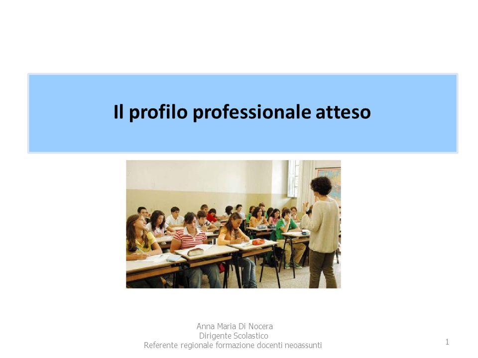 Il profilo professionale atteso Anna Maria Di Nocera Dirigente Scolastico Referente regionale formazione docenti neoassunti 1