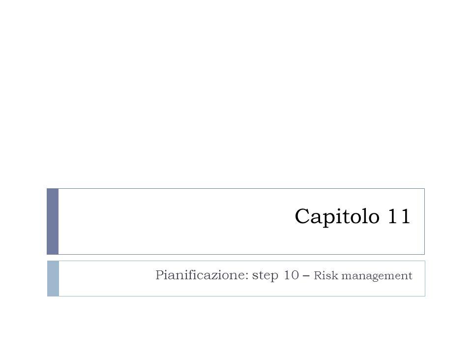 Capitolo 11 Pianificazione: step 10 – Risk management