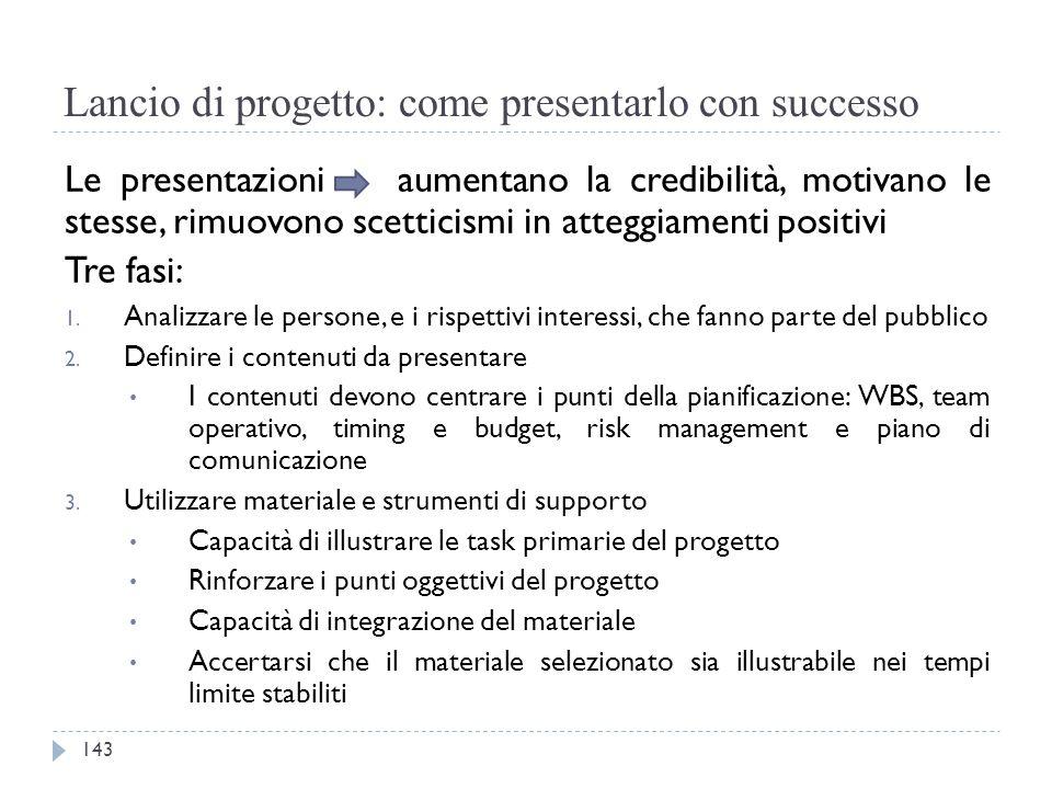 Lancio di progetto: come presentarlo con successo Le presentazioni aumentano la credibilità, motivano le stesse, rimuovono scetticismi in atteggiament