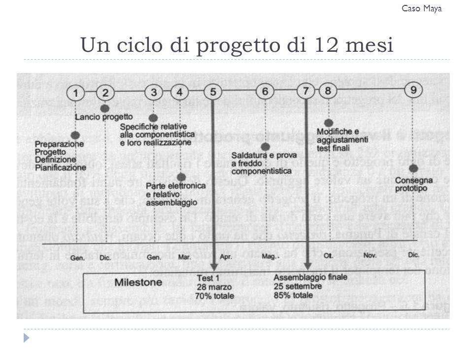 Un ciclo di progetto di 12 mesi Caso Maya