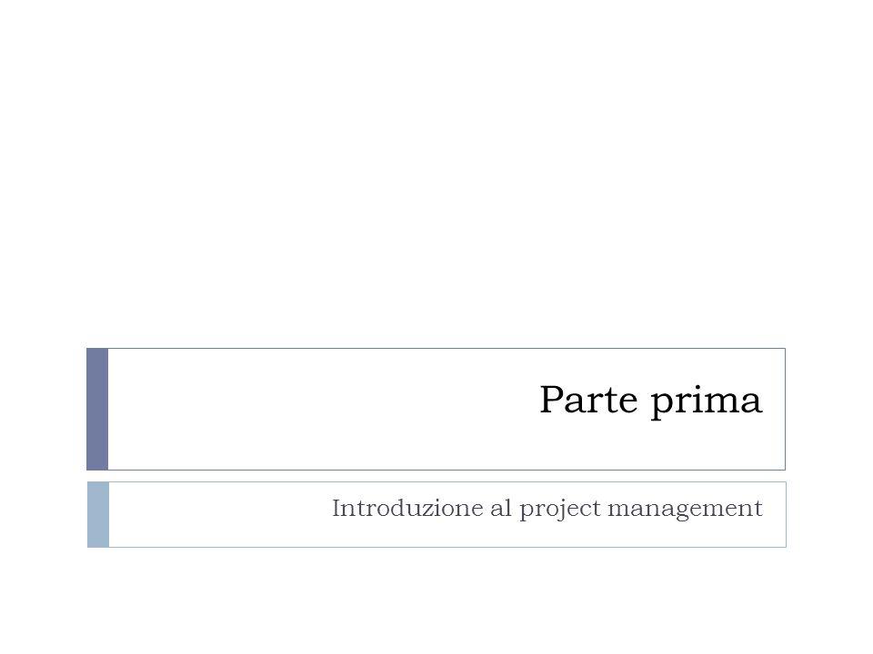 La prima fase del ciclo: la definizione Pone le fondamenta del progetto Due sono le attività a cui far riferimento: 1.