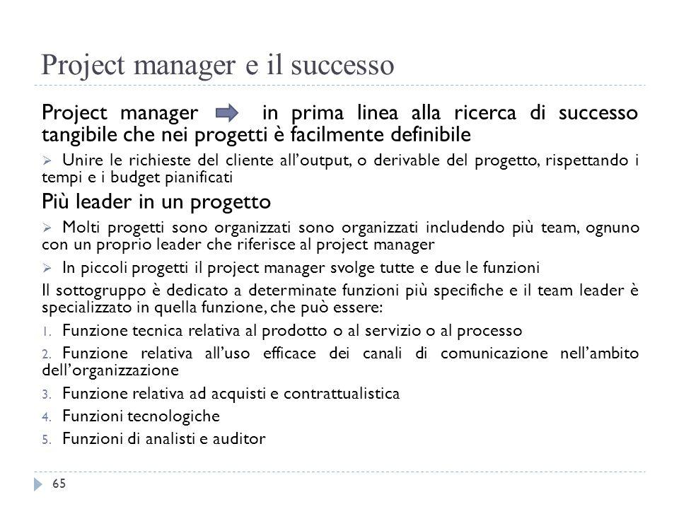 Project manager e il successo Project manager in prima linea alla ricerca di successo tangibile che nei progetti è facilmente definibile  Unire le ri
