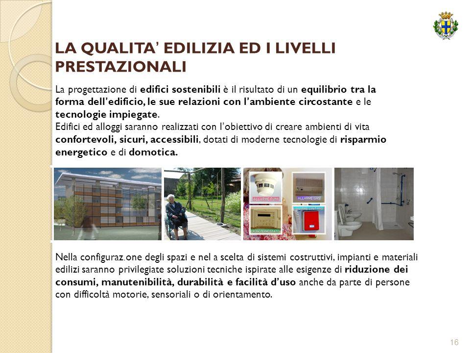 16 La progettazione di edifici sostenibili è il risultato di un equilibrio tra la forma dell'edificio, le sue relazioni con l'ambiente circostante e l