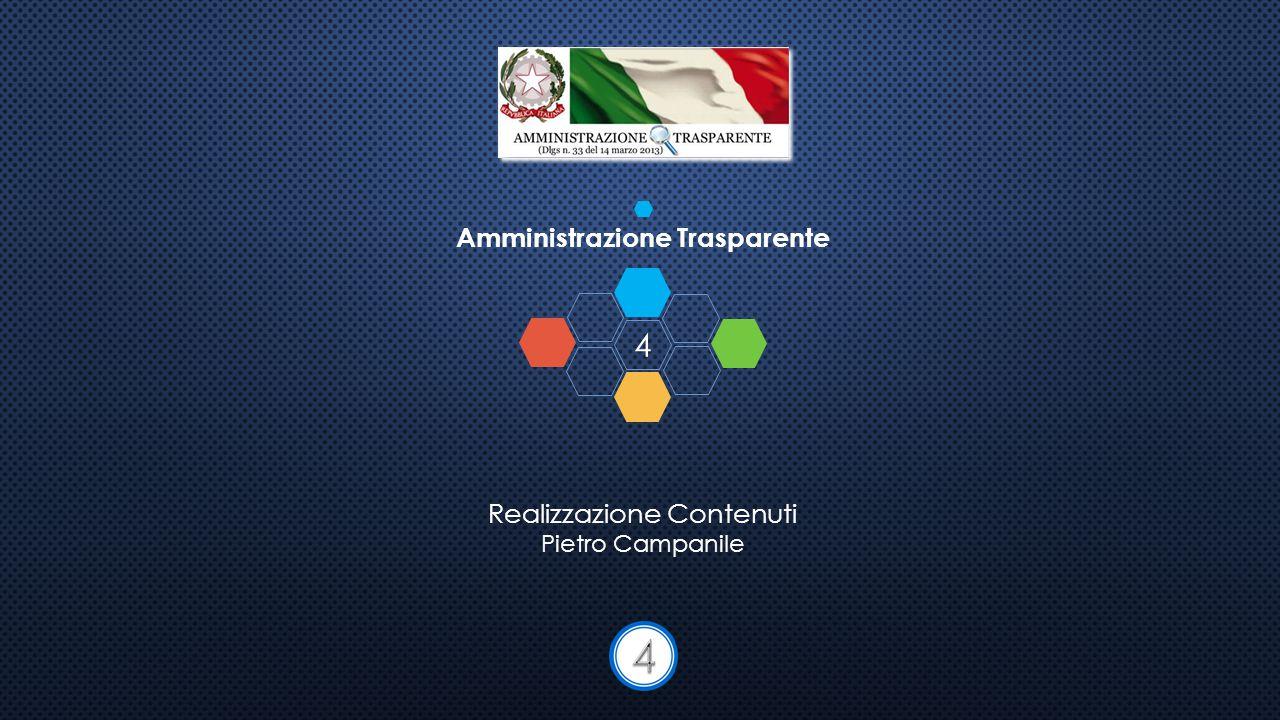 4 Amministrazione Trasparente Realizzazione Contenuti Pietro Campanile