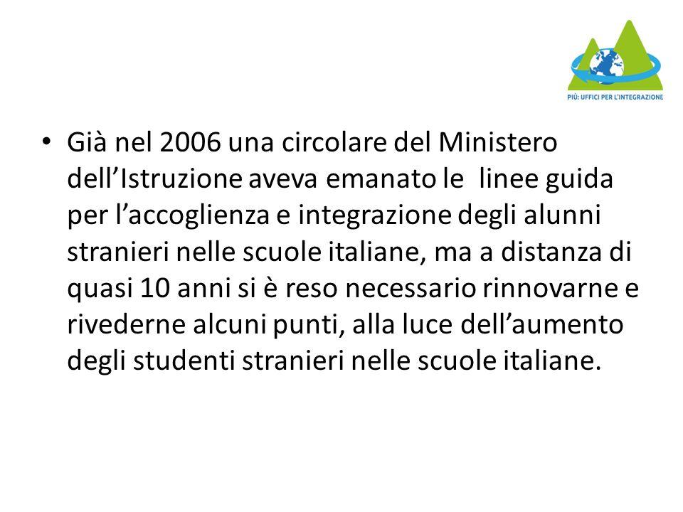 Tra le indicazioni operative c'è quella di costituire reti di scuole al cui interno, tramite opportune intese, sia possibile una distribuzione equilibrata degli alunni stranieri.
