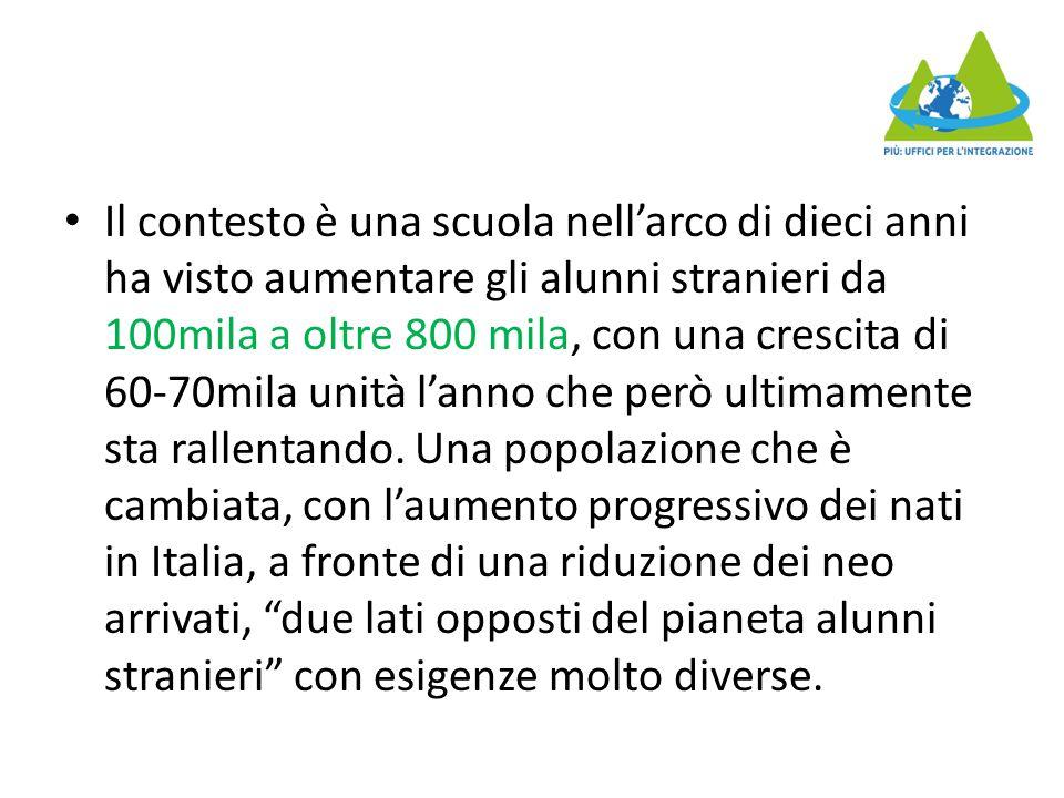 Tra le novità principali, l'aumento degli studenti stranieri alle medie e superiori, dove i nati in Italia sono ancora minoranza e ci sono più problemi di insuccesso e dispersione scolastica.