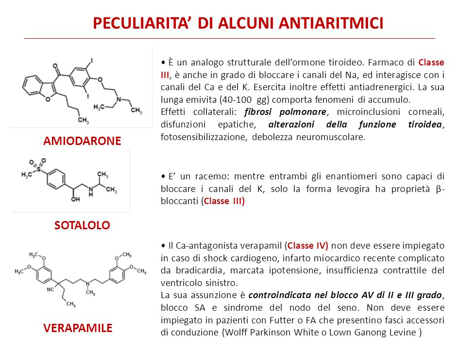 PECULIARITA' DI ALCUNI ANTIARITMICI AMIODARONE È un analogo strutturale dell'ormone tiroideo. Farmaco di Classe III, è anche in grado di bloccare i ca