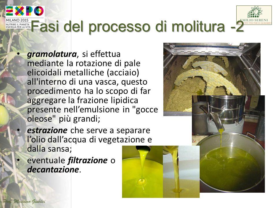 Fasi del processo di molitura -2 gramolatura, si effettua mediante la rotazione di pale elicoidali metalliche (acciaio) all'interno di una vasca, ques