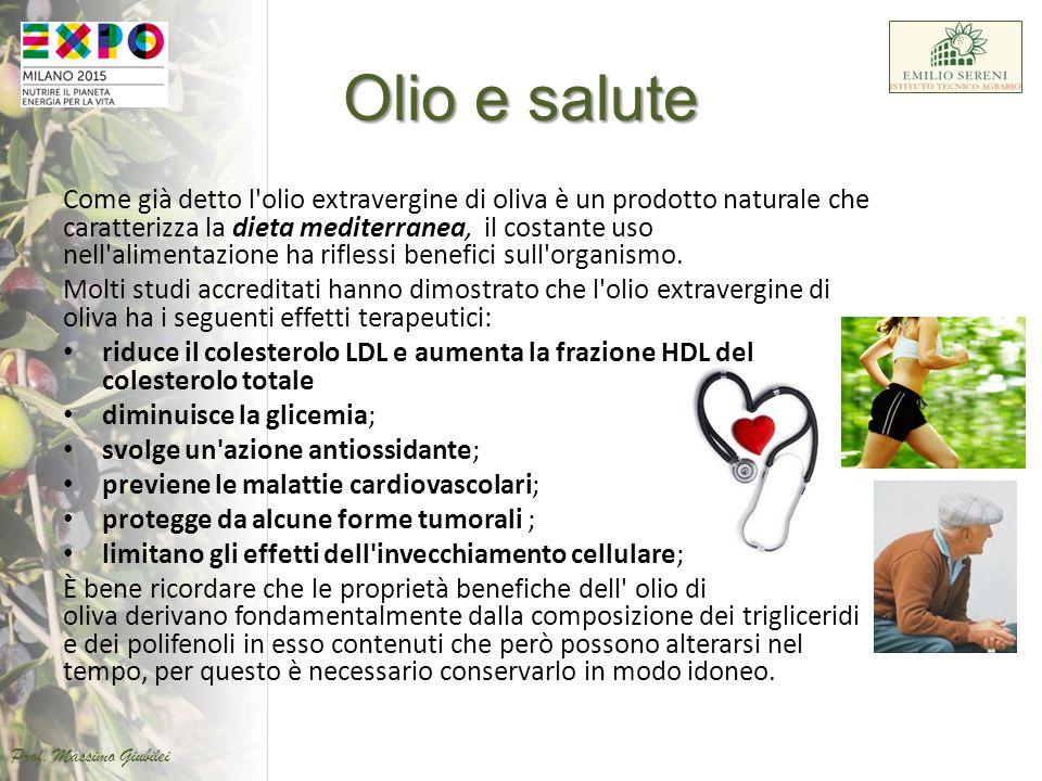Come già detto l'olio extravergine di oliva è un prodotto naturale che caratterizza la dieta mediterranea, il costante uso nell'alimentazione ha rifle