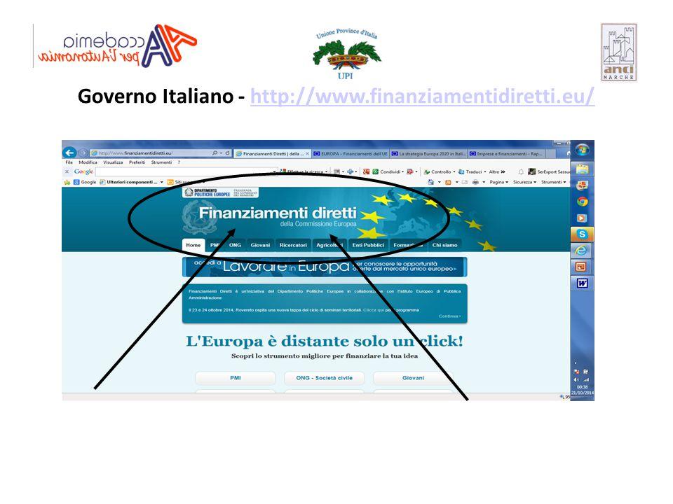 Governo Italiano - http://www.finanziamentidiretti.eu/http://www.finanziamentidiretti.eu/