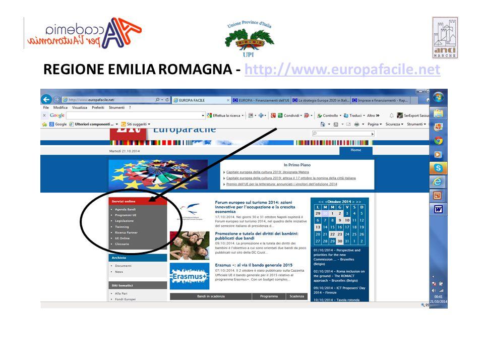 REGIONE EMILIA ROMAGNA - http://www.europafacile.nethttp://www.europafacile.net