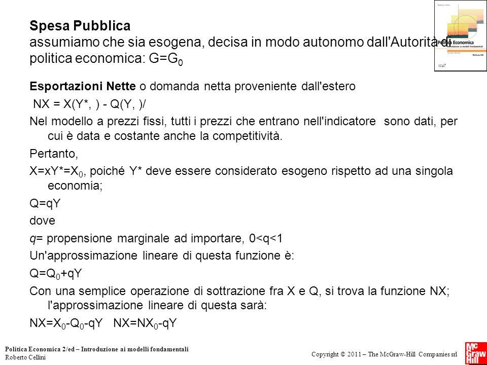 Copyright © 2011 – The McGraw-Hill Companies srl Politica Economica 2/ed – Introduzione ai modelli fondamentali Roberto Cellini Spesa Pubblica assumia