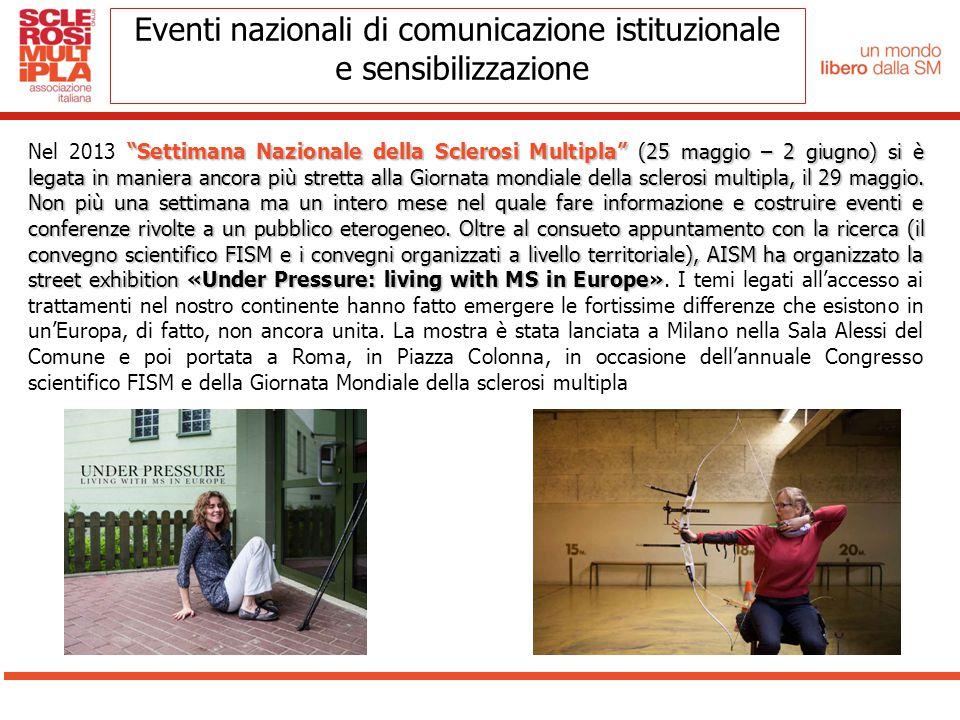 """""""Settimana Nazionale della Sclerosi Multipla"""" (25 maggio – 2 giugno) si è legata in maniera ancora più stretta alla Giornata mondiale della sclerosi m"""