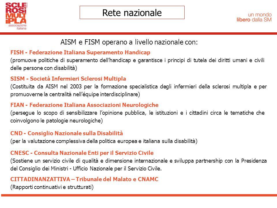 FISH - Federazione Italiana Superamento Handicap (promuove politiche di superamento dell'handicap e garantisce i principi di tutela dei diritti umani