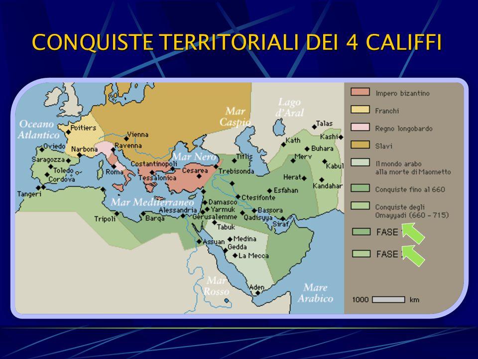 CONQUISTE TERRITORIALI DEI 4 CALIFFI