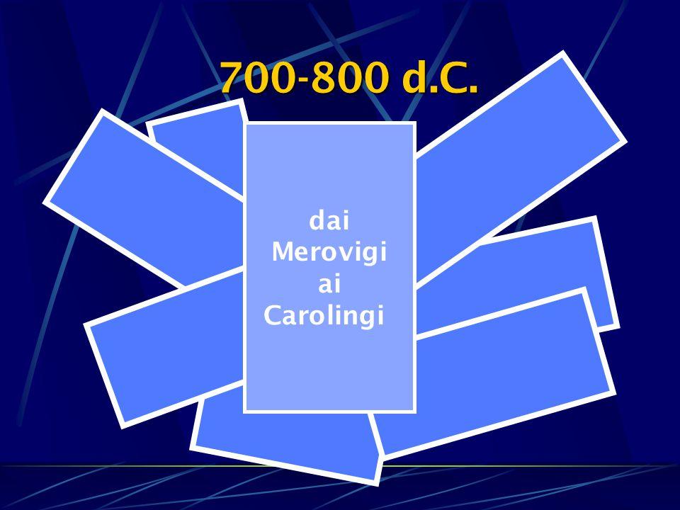 dai Merovigi ai Carolingi 700-800 d.C.