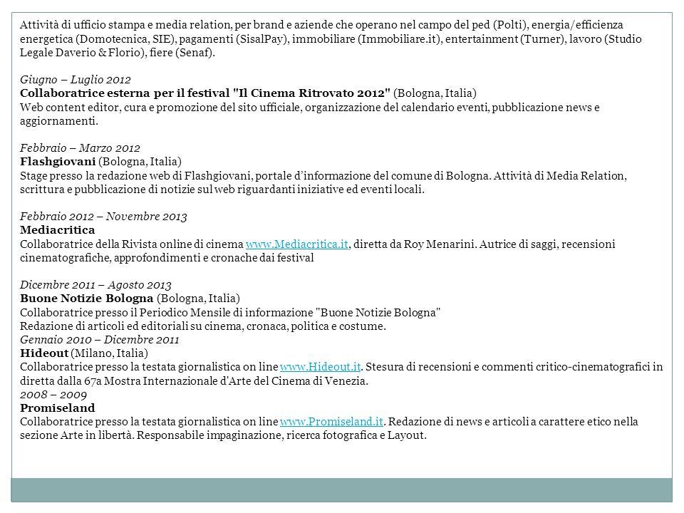 Attività di ufficio stampa e media relation, per brand e aziende che operano nel campo del ped (Polti), energia/efficienza energetica (Domotecnica, SI