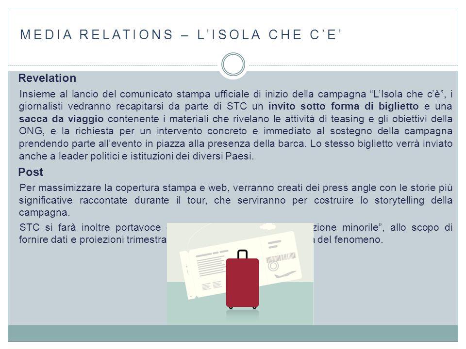 """MEDIA RELATIONS – L'ISOLA CHE C'E' Revelation Insieme al lancio del comunicato stampa ufficiale di inizio della campagna """"L'Isola che c'è"""", i giornali"""
