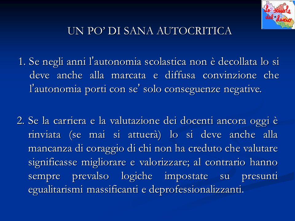 UN PO' DI SANA AUTOCRITICA 1.