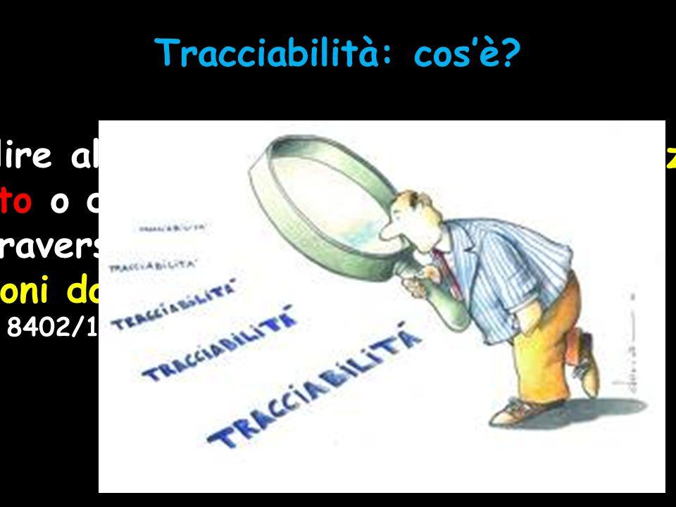 Tracciabilità: cos'è? La tracciabilità è la capacità di risalire alla storia e all'uso o alla collocazione di un prodotto o di un'attività attraverso