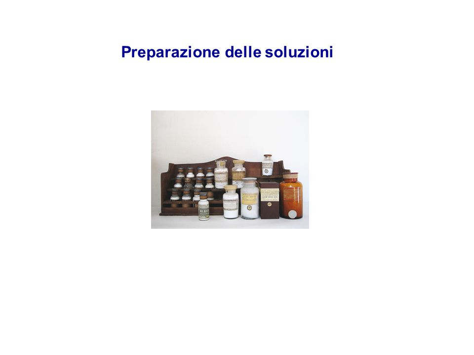 Preparazione delle soluzioni