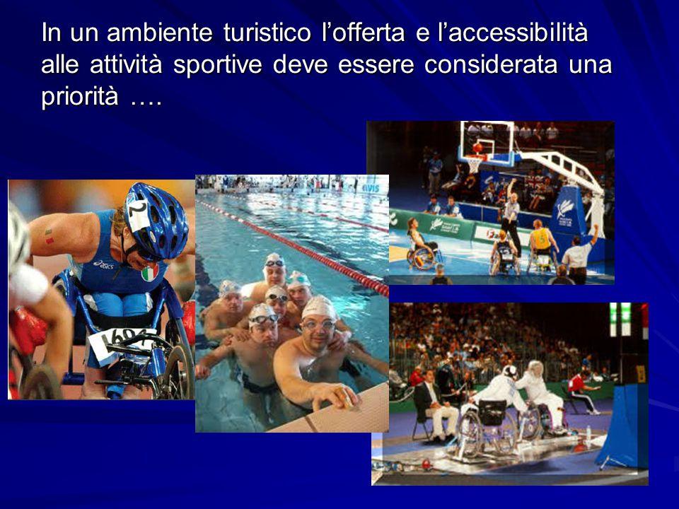 In un ambiente turistico l'offerta e l'accessibilità alle attività sportive deve essere considerata una priorità ….