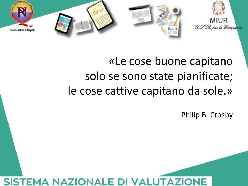 «Le cose buone capitano solo se sono state pianificate; le cose cattive capitano da sole.» Philip B. Crosby