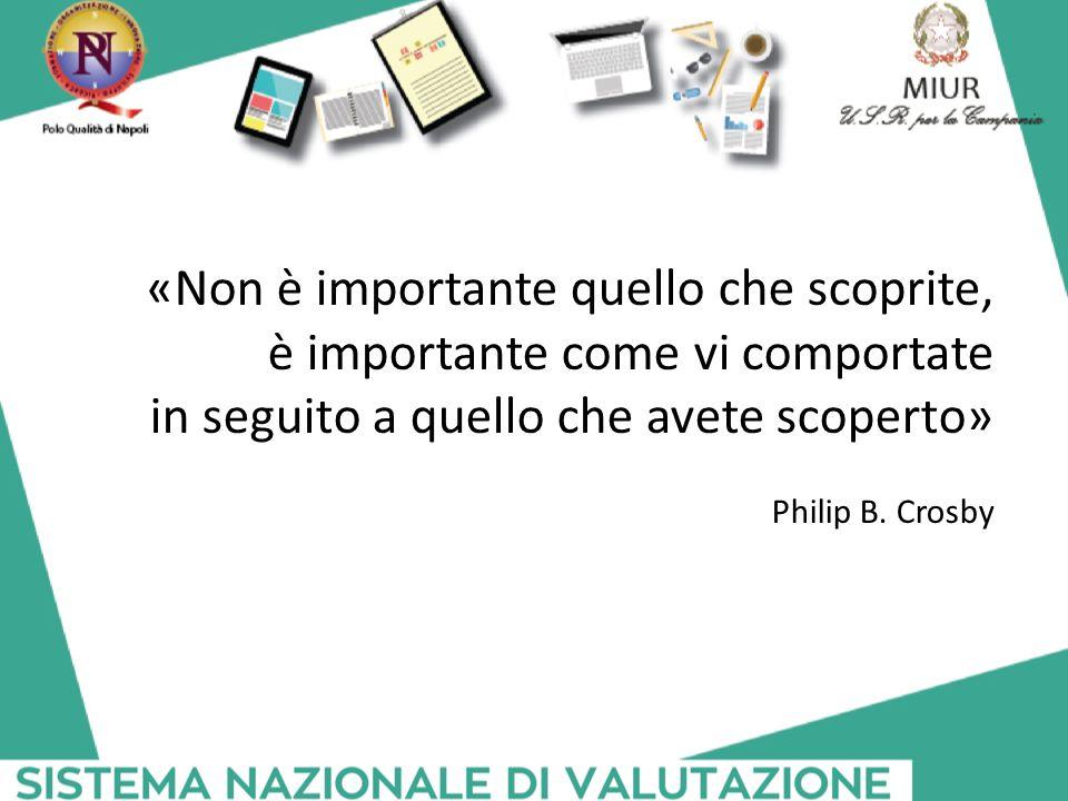 «Non è importante quello che scoprite, è importante come vi comportate in seguito a quello che avete scoperto» Philip B. Crosby