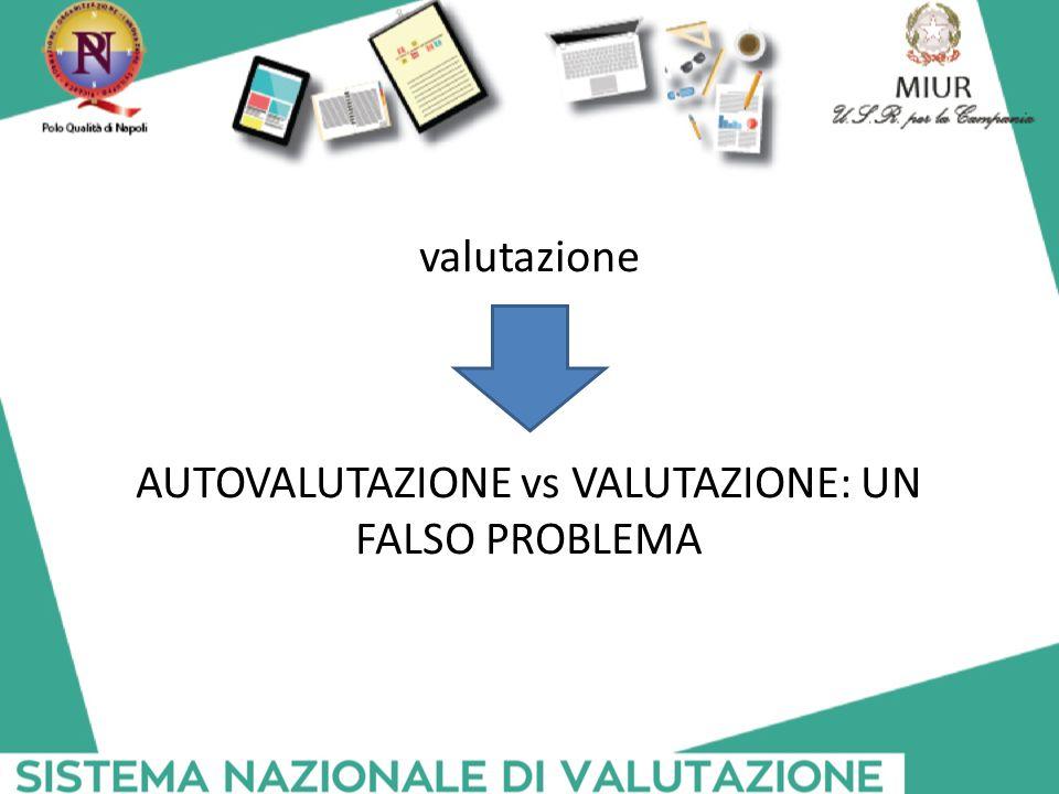 valutazione AUTOVALUTAZIONE vs VALUTAZIONE: UN FALSO PROBLEMA