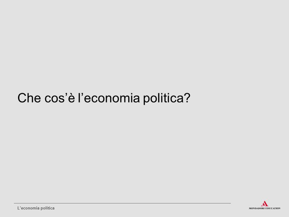 Che cos'è l'economia politica? L'economia politica