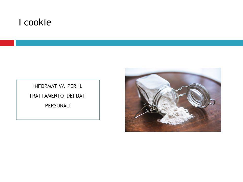 I cookie INFORMATIVA PER IL TRATTAMENTO DEI DATI PERSONALI