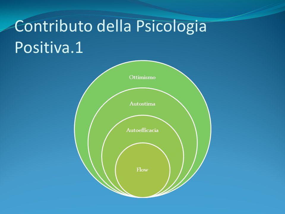 Contributo della Psicologia Positiva.1 Ottimismo Autostima Autoefficacia Flow