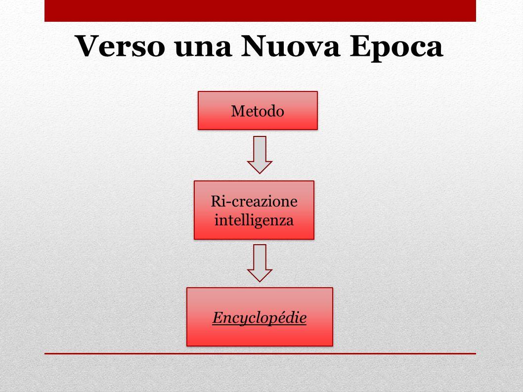 Verso una Nuova Epoca Ri-creazione intelligenza Metodo Encyclopédie