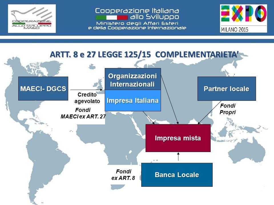Fondi MAECI ex ART. 27 Fondi Propri ARTT.